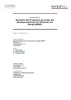 Cover Evaluation des Programms go-cluster