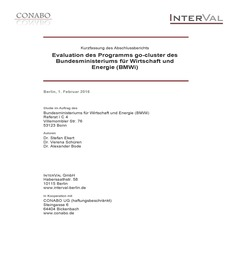 Cover Evaluation des Programms go-cluster - Kurzfassung